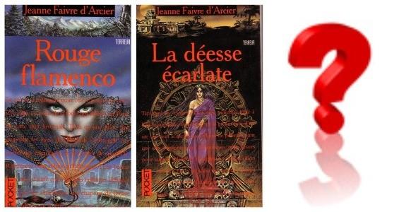La trilogie en rouge de Jeanne Faivre d'Arcier